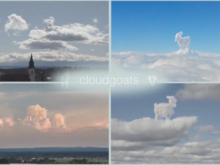 Picture of goat shaped clouds